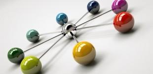 3d Rendering Netzwerk bunt